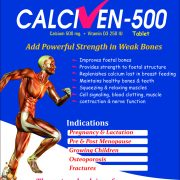 Calciven-500 cALCIUM 500 mg + Vitamin D3 250 IU Tablet made by Wantura Laboratories