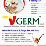 Flyer of VGerm Cream made by Wantura Laboratories
