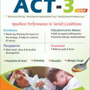 Flyer of Act-3 Syrup made by Wantura Laboratories