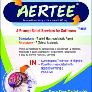 Flyer of Aertee Tablets made by Wantura Laboratories