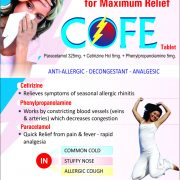 Flyer of Cofe Tablets made by Wantura Laboratories
