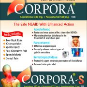 Flyer of Corpora Tablet made by Wantura Laboratories