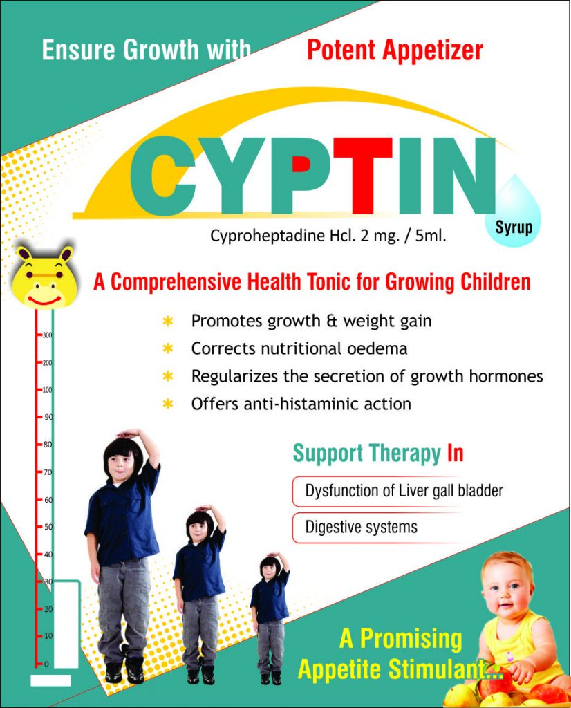 Flyer of Cyptin Appetite Stimulant made by Wantura Laboratories