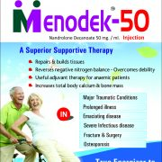 Flyer of Menodek 50 Tablets made by Wantura Laboratories