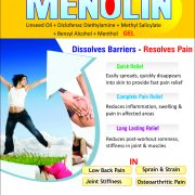 Flyer of Menolin Cream made by Wantura Laboratories