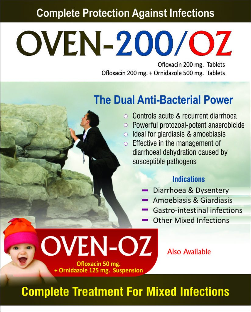 Flyer of OVEN 200 and OVEN OZ Tablets made by Wantura Laboratories