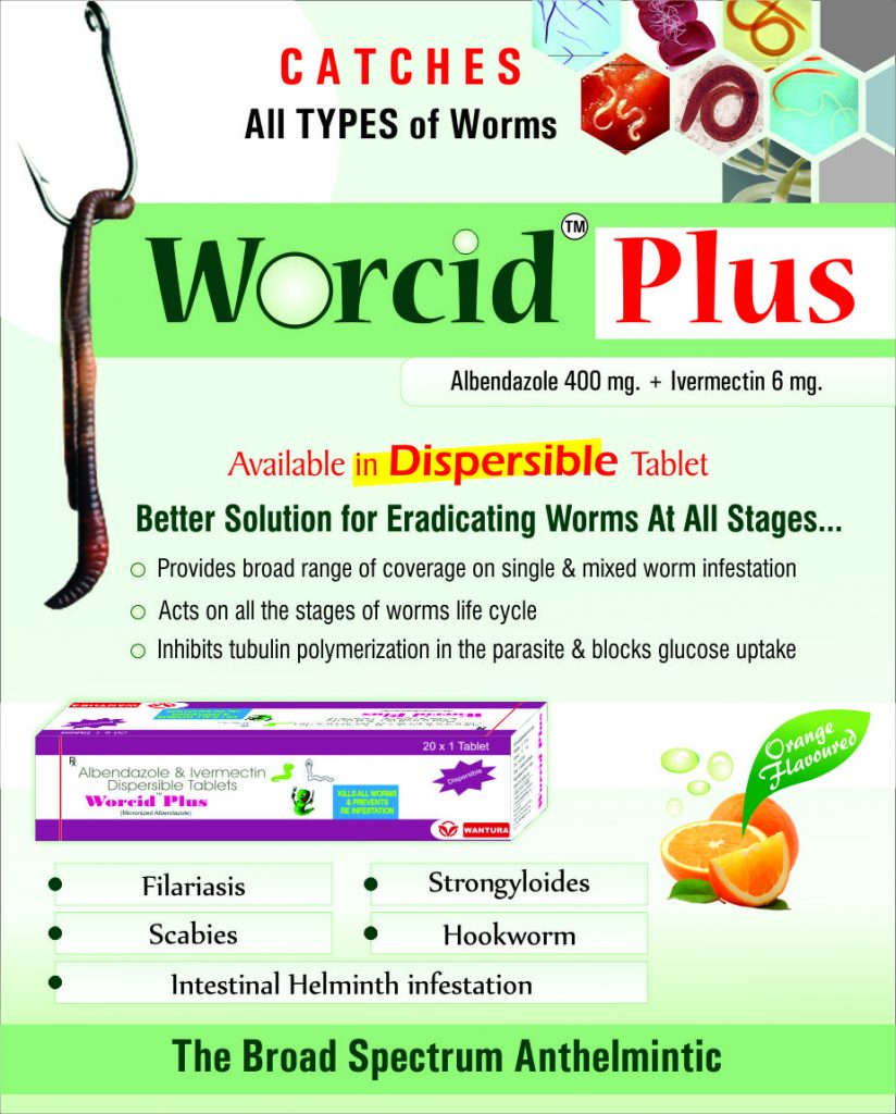 Flyer of Worcid Plus made by Wantura Laboratories